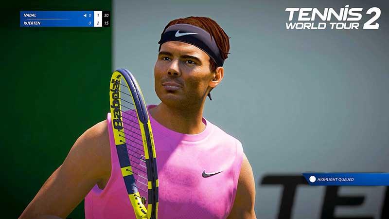 Tennis World Tour 2 PS5 Federer Nadal 4K 60FPS